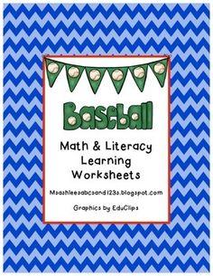 math worksheet : baseball math  literacy worksheets  literacy worksheets math  : Baseball Math Worksheets