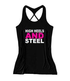 High heels and steel Women's Lift Crossfit Tank Top -X 583