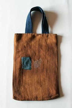 Japanese antique remake small tote by SASAKIYOHINTEN on Etsy