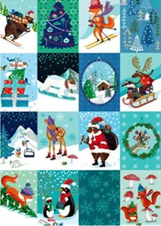 Roger la Borde Chalet Checkboard Boxed Christmas Cards