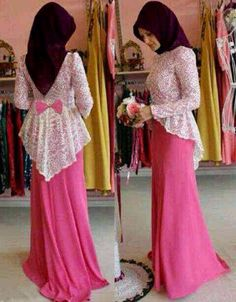 Simple yet beautiful modern kebaya dress