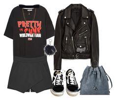 """Leather Jacket"" by darling-ange1 ❤ liked on Polyvore featuring Vans, Jakke, Vanessa Mooney, Target and Anya Hindmarch"