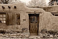 Adobe Home - Santa Fe, New Mexico...Stock id #496