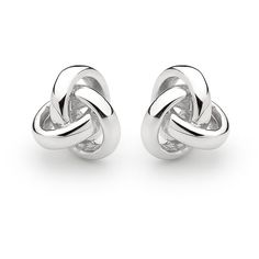 Georgini Love Knot Hi-Shine Earrings ($49) ❤ liked on Polyvore featuring jewelry, earrings, women's accessories, polish jewelry, love knot earrings, love knot jewelry and georgini