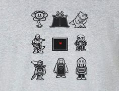 Undertale Characters This is your soul Tee T-Shirt Shirt