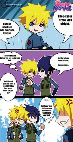 sasunaru comica | SasuNaru :parent problem: by Ranniiee