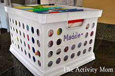 Organizing kids keepsakes