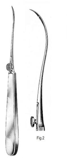 Reverdin (bowdler Henri) needle - fascia closure by laparoscopy