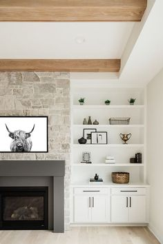 Fireplace Built Ins, Home Fireplace, Fireplace Design, Fireplace Stone, Fireplace Shelves, Fireplaces, Living Room Fireplace, Basement Fireplace, Fireplace Surrounds