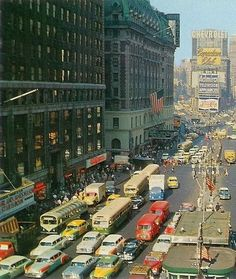 NYC. Manhattan. Times Square, 1954.