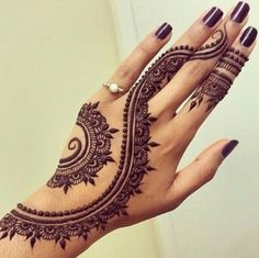 Eid Mehndi-Henna Designs for Girls.Beautiful Mehndi designs for Eid & festivals. Collection of creative & unique mehndi-henna designs for girls this Eid Henna Tattoo Muster, Henna Tattoo Hand, Arm Tattoo, Mandala Tattoo, Henna On Hand, Finger Henna, Foot Henna, Henna Mandala, Tattoo Ink