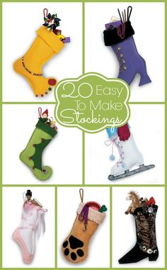 CHRISTMAS - 20 Stockings that are so easy even I could make them myself! Christmas Makes, Noel Christmas, Diy Stockings, Christmas Stockings, Christmas Projects, Holiday Crafts, Christmas Ideas, Stocking Pattern, Christmas Sewing