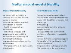 what is the social and medical model of disability