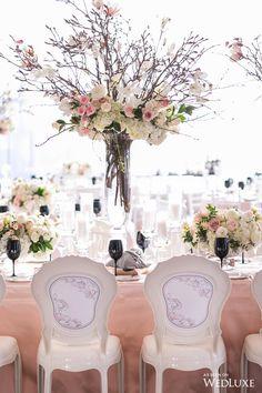 A Spectacular Spring Wedding - WedLuxe Magazine Luxe Wedding, Hotel Wedding, Spring Wedding, Wedding Table, Floral Wedding, Wedding Flowers, Dream Wedding, Tall Wedding Centerpieces, Wedding Venue Decorations