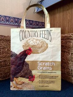 Recycled Repurposed Country Feeds Scratch by EarthenVesselCrafts