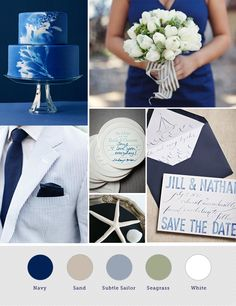 this is the new wedding theme. minus the seagrass color. replace that with blush.
