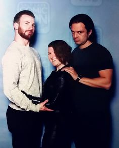 Chris and Seb with a fan at SLCC