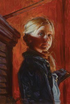 Scott Burdick, Anika at Sheppherd, oil, 24 x 16.