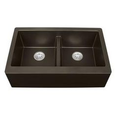 kohler riverby 33 in x 22 in black black single basin drop in 3 hole rh pinterest com