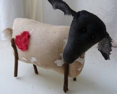 primitive animal sculpture LOVE EWE perfect by cornishcontemporary, £12.50
