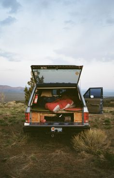 pick-up truck camping