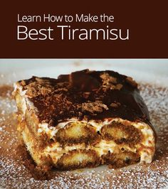 In this cooking lesson, learn how to layer coffee-soaked ladyfinger biscuits with rich cream and chocolate to make a bake-free, melt-in-your mouth tiramisu!