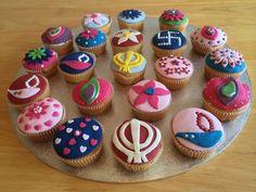 Diwali cupcakes Fondant Toppers, Fondant Cupcakes, Mini Cupcakes, Cupcake Toppers, Cupcake Fondant, Diwali Food, Diwali Party, Diwali Decorations, Yummy Cakes