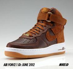 timeless design 00fee 3dacf Air Force 1 ID Pioneer Leather Skor Sneakers, Air Jordan, Nike Id, Ledig