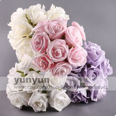 100 Rose Head  Latex Real Nature Touch by BridalBroochBouquet, $50.00