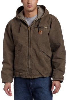 Mega Shop | Carhartt Men's Big & Tall Sierra Jacket Sherpa Lined Sandstone