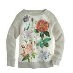 garden floral baseball sweatshirt.
