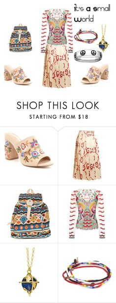 """Mules - It's A Small World Disneybound"" by dystopiadisney ❤ liked on Polyvore featuring ALDO, Gucci, Fantasia, Temperley London, Tessa Packard and Grayson"