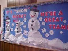 "its ""snow"" secret... i want this for my december bulletin board"