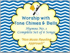 *** $8.00 *** This product contains these six familiar hymns written for Tone Chimes & Bells. • HYMNS No. 1 - Set 1 o All Hail the Power of Jesus' Name o Come, Thou Almighty King • HYMNS No. 1 - Set 2 o Holy, Holy, Holy! Lord God Almighty o Immortal, Invisible, God Only Wise • HYMNS No. 1 - Set 3: