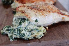 Spinach Artichoke Dip Chicken #paleo SO GOOD!
