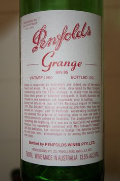 Penfolds Grange 1990 - tried this in 2007, lovely aged, medium bodied wine, considered to be Australia's finest. The 2009 goes for $600 bottle.