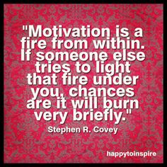 Photo: This Stephen Covey quote says it all when it comes to motivation! What do you think? Nerd Fitness, Fitness Motivation, Self Motivation, Positive Motivation, Fitness Goals, Stephen Covey Quotes, Stephen R Covey, Personal Trainer Jobs, Risk Quotes
