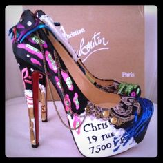 """Christian Louboutin Limited Edition Daffodile Christian Louboutin Limited Edition """"Brodee"""" 160mm Daffodile Pump.. Very detail shoe. Collectors edition only a limited amount was made. Worn twice. In excellent condition with dust bag only. Size 40 Christian Louboutin Shoes Heels"""