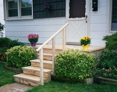 Small wood front porch | Thiswooden porch hides a concrete porch which had started to ...
