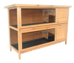 2-Story Stacked Wooden Outdoor Animal Bunny Rabbit Hutch/Guinea Pig House