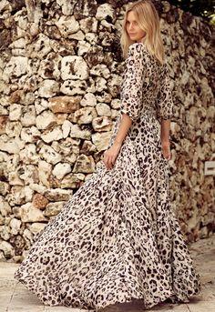 Ultra longue et bien coupée, cette robe léopard a tout bon ! (robe Spell - blog Tuula)