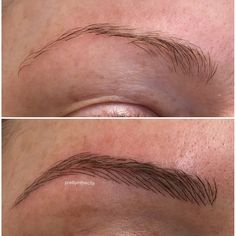 Cosmetic Eyebrow Tattoo using Microblading and Powder / Ombre brow techniques. Semi permanent makeup. Located in Toronto.