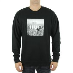 Sale Huf - New York Box Logo Crew/Black Online