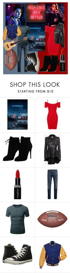 """""""My fave redheads"""" by sleeping-horizon-empires ❤ liked on Polyvore featuring Sans Souci, Tom Ford, Alexander McQueen, Smashbox, Jack & Jones, Doublju and Converse"""