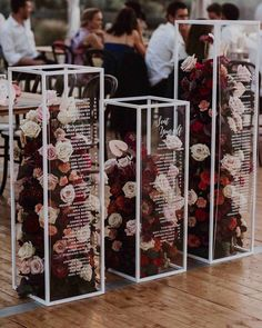 acrylic pedestals filled with flowers for wedding seating chart, Wedding Ideas , , ideas unique 2020 Wedding Trends To Bookmark: Part 2 ⋆ Ruffled Wedding Paper, Diy Wedding, Fall Wedding, Rustic Wedding, Wedding Flowers, Dream Wedding, Wedding Colours, New Years Wedding, Paper Wedding Decorations