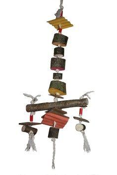 Jouet destructible en bois comestible et matériaux naturels pour perroquets - toy for parrot Parrots, Clock, Diy, Home Decor, Budgie Toys, Wood Slices, Budgies, Watch, Decoration Home