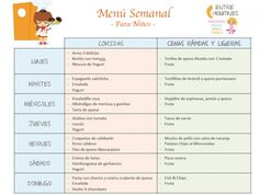 Comida saludable ni os men s pinterest comidas - Cenas rapidas para ninos de 18 meses ...