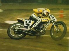 SB ♥ Kenny Roberts (Note the Front Wheel up 1/2' as he powers out of the corner still Sideways !)