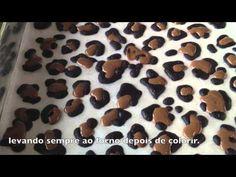 Como fazer rocambole com desenho de Leopardo - YouTube