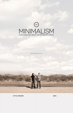 The Minimalists present a film by Matt D'Avella, in Association with Catalyst, Asymmetrical, and SPYR. Minimalism: A Documentary About the Important Things. Films Netflix, Netflix Documentaries, 2020 Movies, New Movies, Fresh Movie, Movie Info, Poster Ads, Film Poster, James Bond Movies